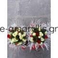 Χάρτινα τσαντάκια με σύνθεση λουλουδιών
