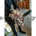 Νυφική ανθοδέσμη με λευκά και bronze τριαντάφυλλα