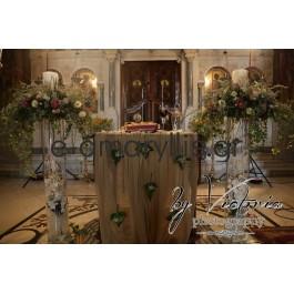 Λαμπάδες γάμου με βάση plexiglass