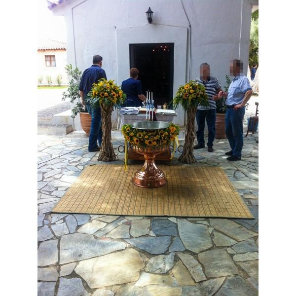 Γάμος και βάφτιση μαζί με ηλίανθους